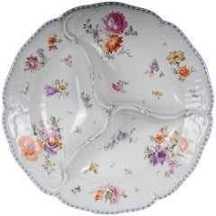 19th Century KPM Berlin Rare Confectionery Dish with Three Sections