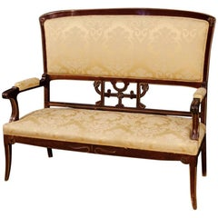 20th Century Spanish Sofa in Mahogany Wood