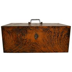 Antique Grain Painted Steel Strong Box