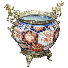 19th Century Imari Jardinière with Bronze Mounts