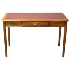 Edwardian Leather Top Writing Table