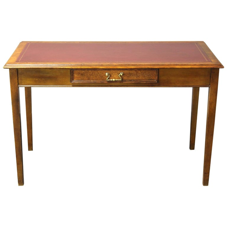Edwardian Leather Top Writing Table 1