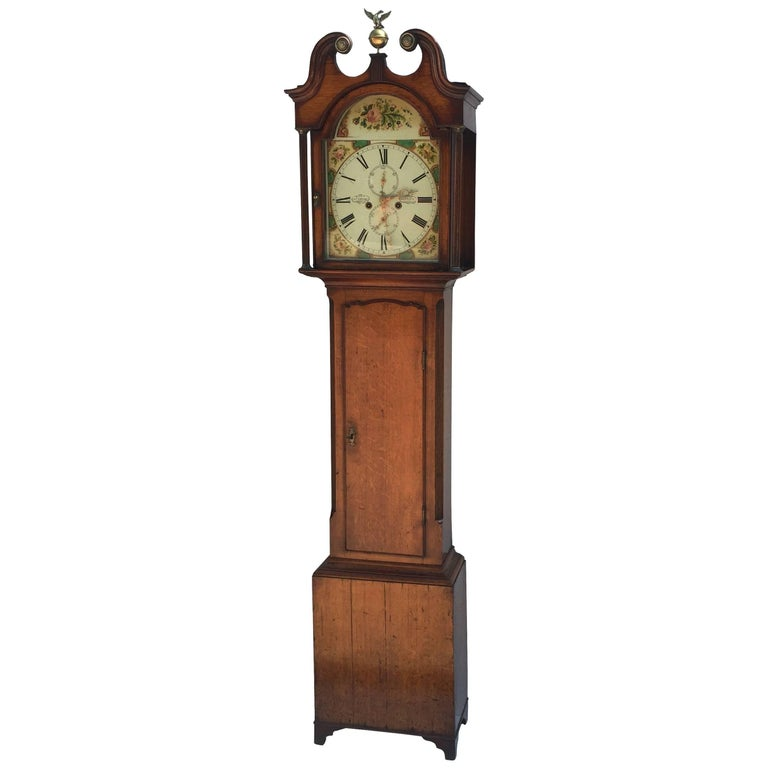 Scottish Antique George III Oak Grandfather Clock, circa ...