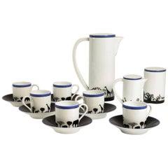 Rare Coffee Set Designed by François-Xavier Lalanne for Artcurial, France, 1991