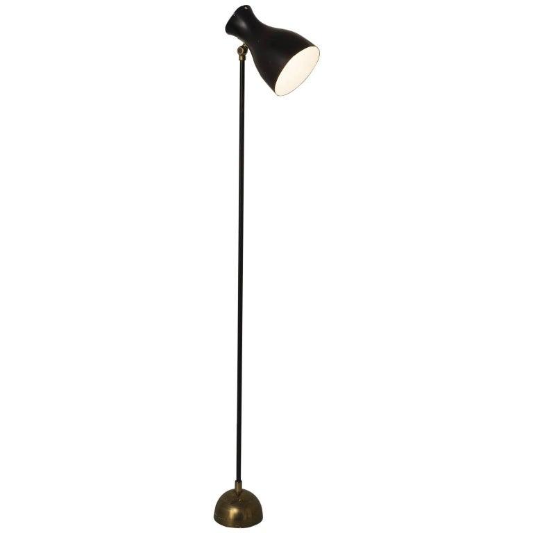 Swiss Dieter Schulz Floor Lamp with Brass