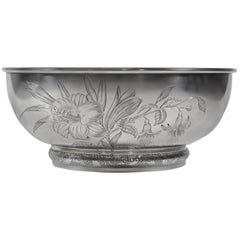 Gorham Aesthetic Movement Sterling Silver Bowl, circa 1881