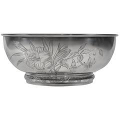 Gorham Aesthetic Movement Sterling Silver Bowl, circa 1881