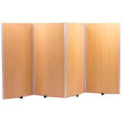 Rare Large Plywood Screen by design studio Pelikan Denmark
