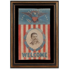 Presidential Campaign Banner with a Portrait of Theodore Roosevelt