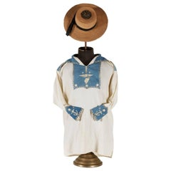 Navyman's Frock and Jack Tar Hat with Elaborate Patriotic Decoration