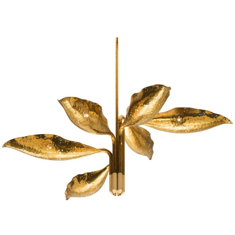 Angelo Lelii Chandelier in Brass for Arredoluce 1