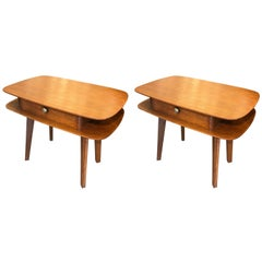 Beautiful Pair of Italian Nightstands, circa 1960
