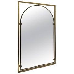 John Widdicomb Brass Wall Mirror