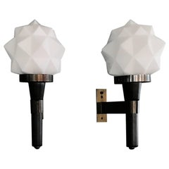 Beautiful Pair of Mid-Century Modern Sconces by Reggiani