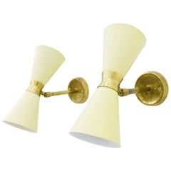 Pair of Small Diabolo Wall Sconces, 1950s