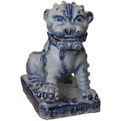 Lion in Faience of Nevers, France, 17th Century