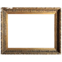 Huge 19th Century Dutch Gesso and Gilt Frame