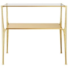 Potences, Table Made Bronze and Brass, Made in France by Charles Paris