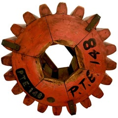 Monumental Architectural Industrial Wooden Gear Cog
