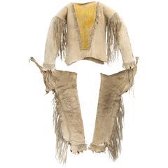 Antique Native American Boy's Outfit 'Shirt and Leggings', Apache, circa 1880