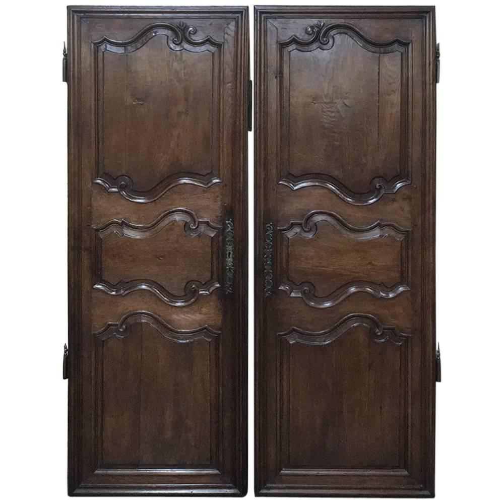 Pair of 18th Century Country French Oak Armoire Doors Plaquards For Sale  sc 1 st  1stDibs & Pair of 18th Century Country French Oak Armoire Doors Plaquards ...