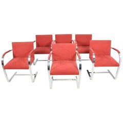 Faltbar Stainless Steel Brno Chairs by Knoll