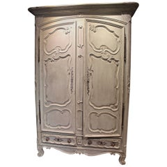 Antique French 18th Century Louis XV Armoire with Extremely Detailed Carvings