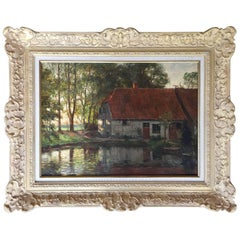 """""""The Cottage in Summer: by Frits Thaulow"""