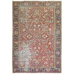 Shabby Chic Antique Persian Heriz Rug
