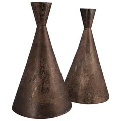 9th Century Silver Processional Priest's Hats, Chimu Culture, Peru
