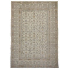 Modern Khotan Style Rug with Transitional Style in Muted Colors