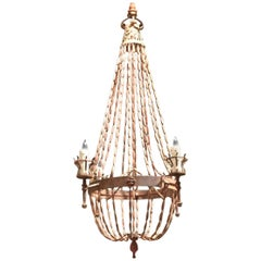 Sensational Venetian Glass 12 Light Chandelier At 1stdibs