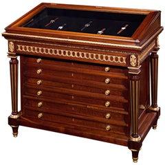 19th Century Watch Winding Display Cabinet