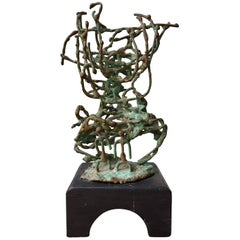 1950s Brutalist Sculpture Great Patina