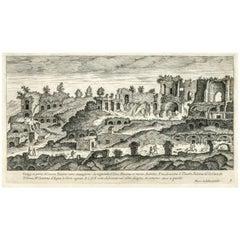 1660 Roman Engraving by Marco Sadeler