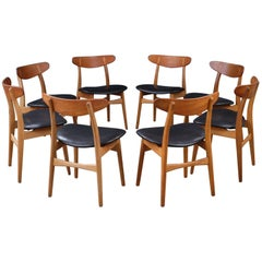 Set of Eight Hans Wegner CH30 Chairs