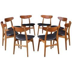 Set of Eight Hans Wegner CH30 Chairs