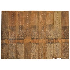 Antique Hand-Carved Wooden Panel