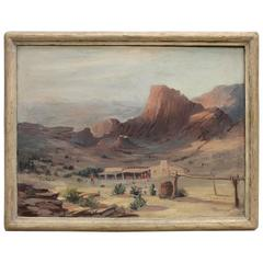 1940s Western Landscape Oil Painting by Clarence W. Staley