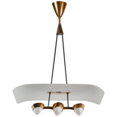 Petite Italian Chandelier with Three Oval Lights
