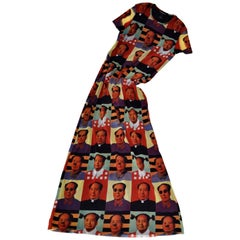 Vivienne Tam 'Mao' Printed Dress, 1995