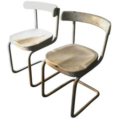Pair of Mart Stam Thonet Bauhaus Side Chairs Marcel Breuer