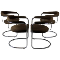 Set of Four Anton Lorenz Chairs, Thonet
