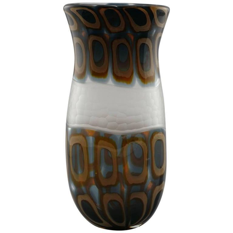 Vintage Formentello Green Handmade Murano Glass Vase For Sale At 1stdibs