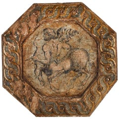 Hand-Painted, 18th Century Zodiac Ceiling Medallion