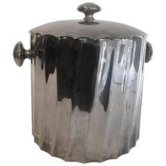 Silver Mid-Century Small Bar Ice Bucket