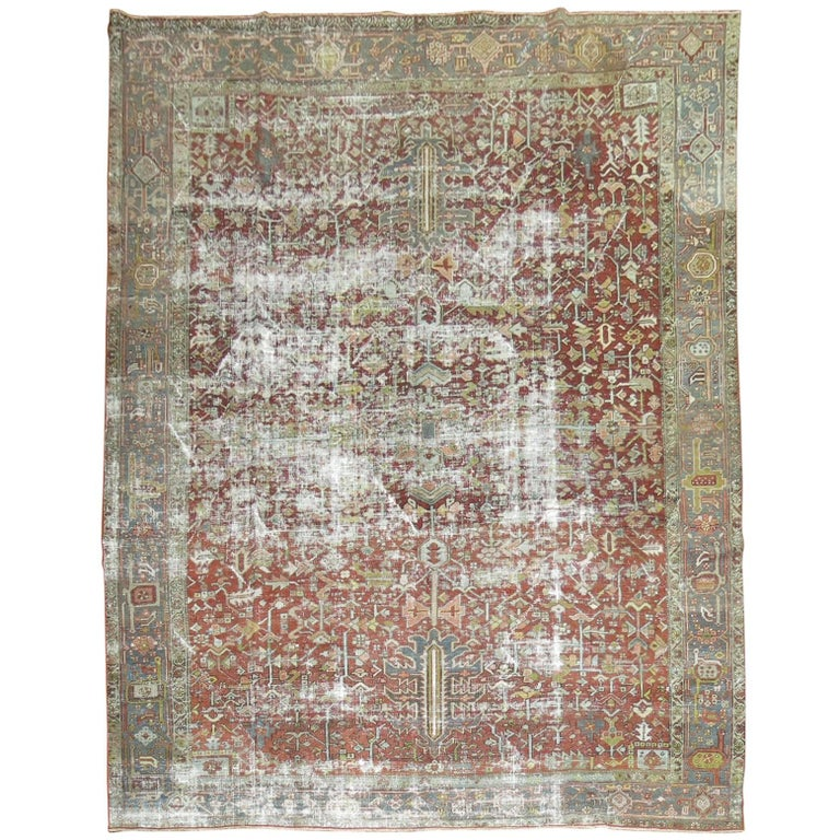 Shabby Chic Distressed Persian Heriz Rug