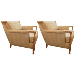 Pair of Mid-Century French Lounge Chairs