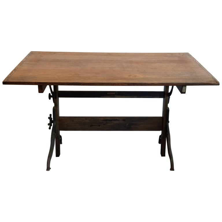 Industrial Nike Drafting Table Ca 1950: Vintage Hamilton Drafting Table For Sale At 1stdibs