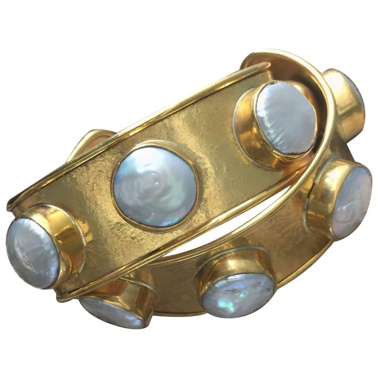 Rock Candy Small Cuffs with Fresh Water Pearls